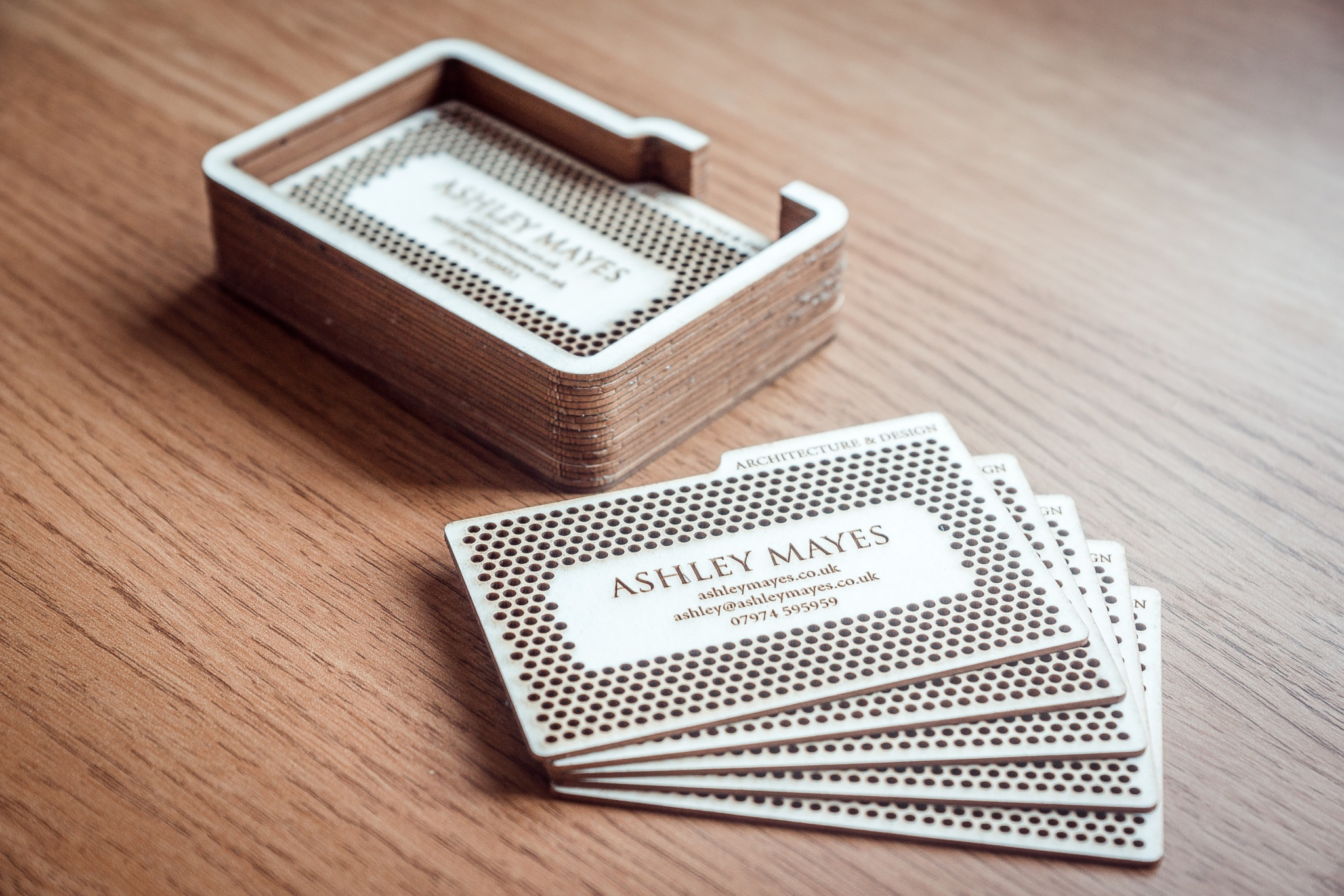 contacts laser cut business cards ashley mayes